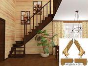 Недорогие готовые деревянные лестницы для дома,  коттеджа,  дачи.