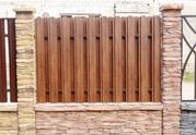 Забор из металлопрофиля — изготовление и установка