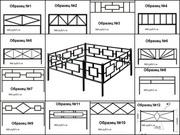 Ритуальные  ограды стандарт и на заказ